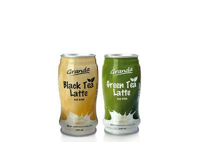 Granda arbatos ir pieno gėrimai