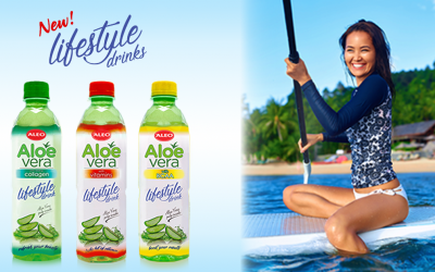 NEW ALEO Aloe Vera Lifestyle drink series with collagen, vitamins and BCAA!